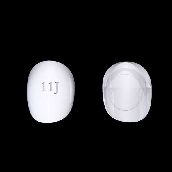 Tiptonic Finger Pick 11J - top and bottom view