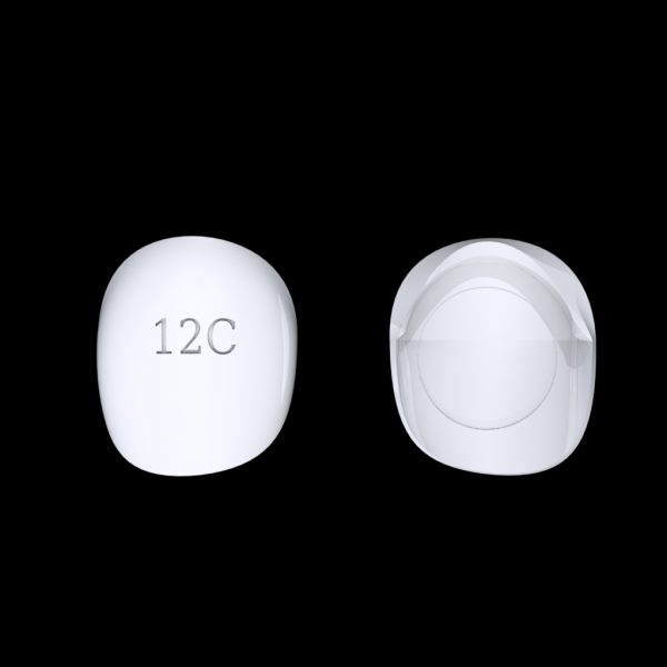 Tiptonic Finger Pick 12C - top and bottom view