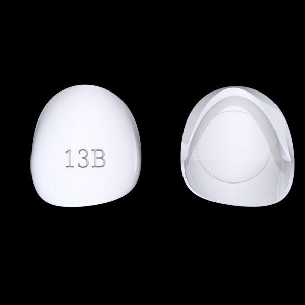 Tiptonic Fingernail Pick 13B - top and bottom view