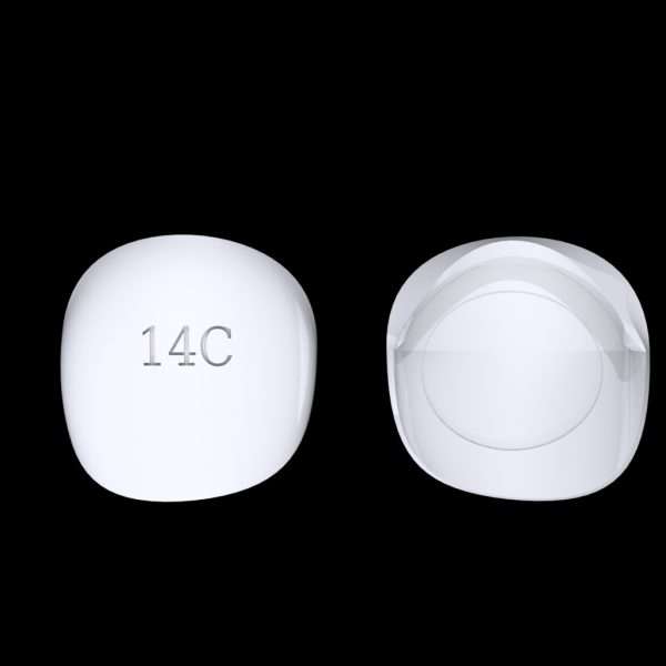 Tiptonic Finger Pick 14C - top and bottom view
