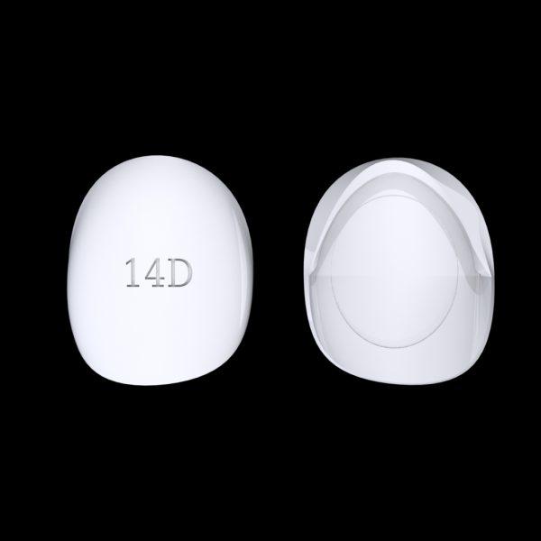 Tiptonic Fingernail Pick 14D - top and bottom view