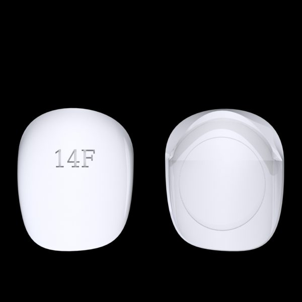 Tiptonic Finger Pick 14F - top and bottom view