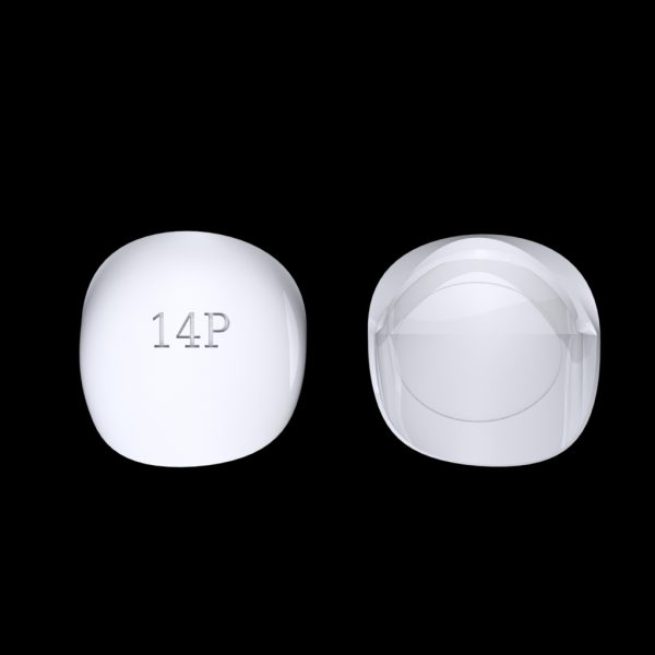 Tiptonic Finger Pick 14P - top and bottom view
