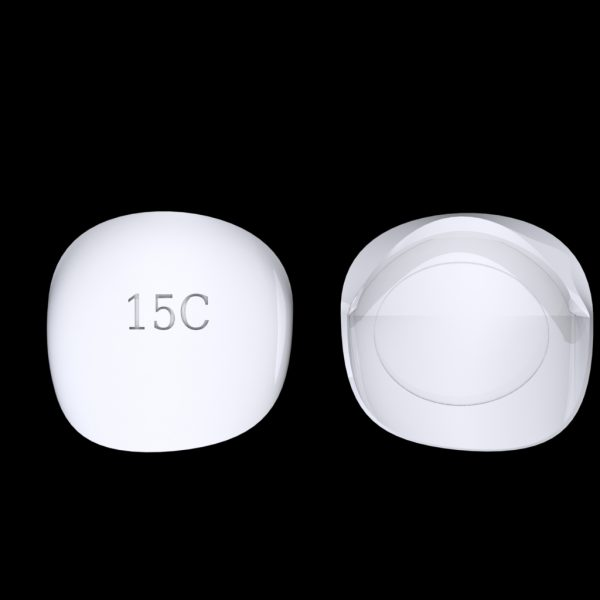 Tiptonic Finger Pick 15C - top and bottom view