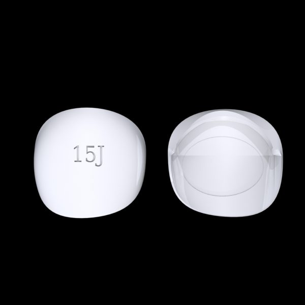 Tiptonic Finger Pick 15J - top and bottom view