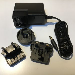 Power Supply Cord with EU, UK and AU interchangeable Plugs